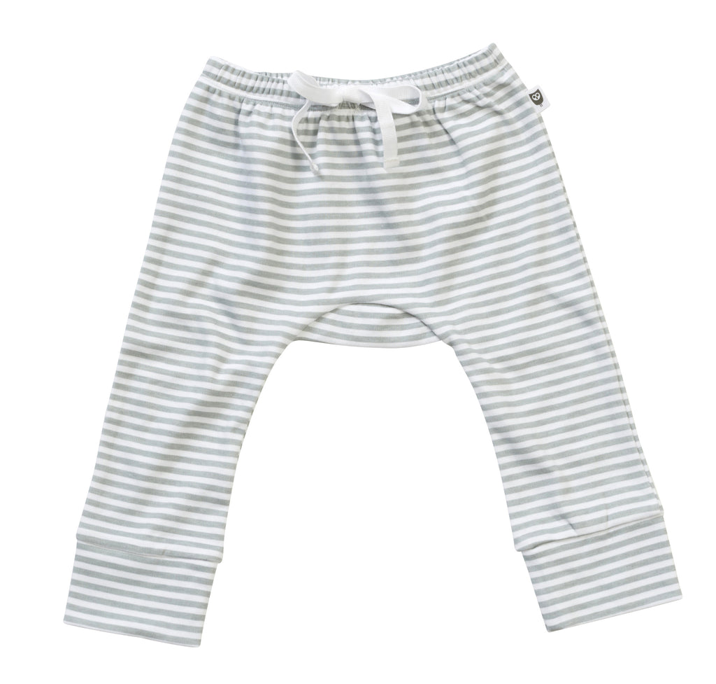 Hoot Baby Grey Stripe Leggings - Clothing - Ankle-Biters - 1
