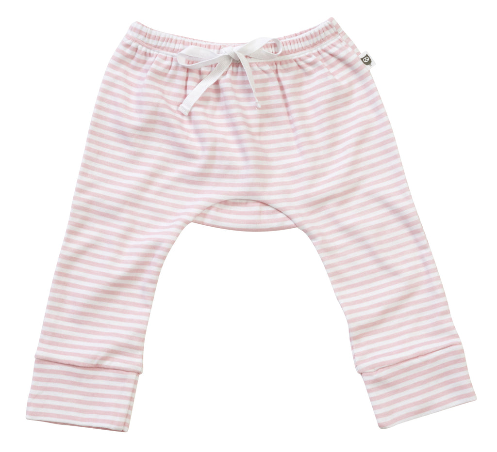 Hoot Baby Pink Stripe Leggings - Clothing - Ankle-Biters - 1