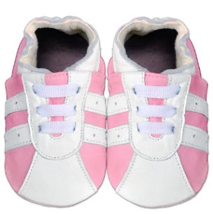Sporty Sneakers - Soft Sole Leather Shoes - Ankle-Biters - 1