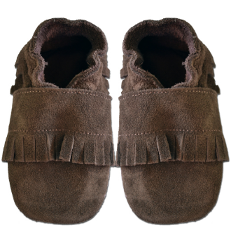 Native Moccasin - Soft Sole Leather Shoes - Ankle-Biters - 1