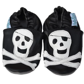 Skull & Xbones - Soft Sole Leather Shoes - Ankle-Biters - 1