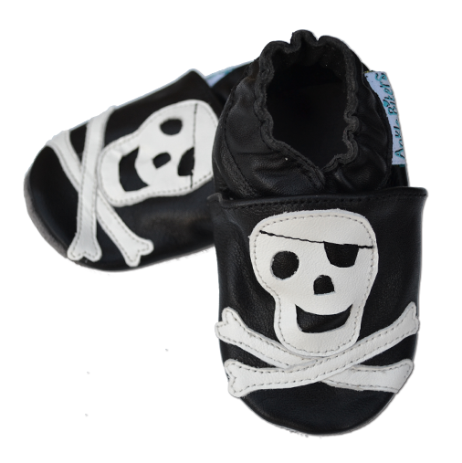 Skull & Xbones - Soft Sole Leather Shoes - Ankle-Biters - 2