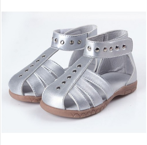 Roman Silver - Toddler & Children Sandals - Ankle-Biters - 2