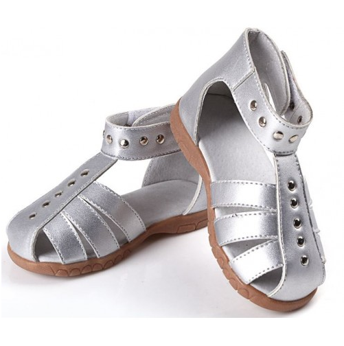 Roman Silver - Toddler & Children Sandals - Ankle-Biters - 1