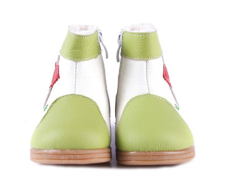 Raindrops in Lime - Toddler & Children Shoes - Ankle-Biters - 2