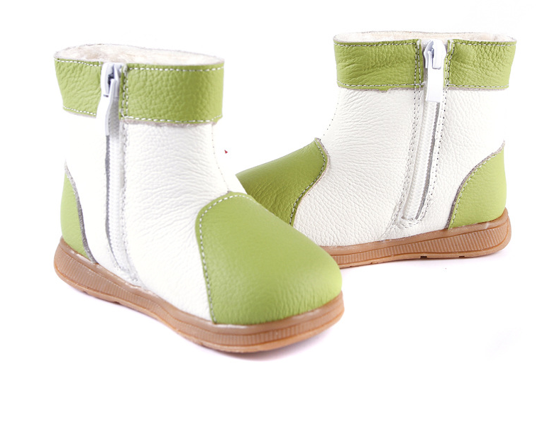 Raindrops in Lime - Toddler & Children Shoes - Ankle-Biters - 3