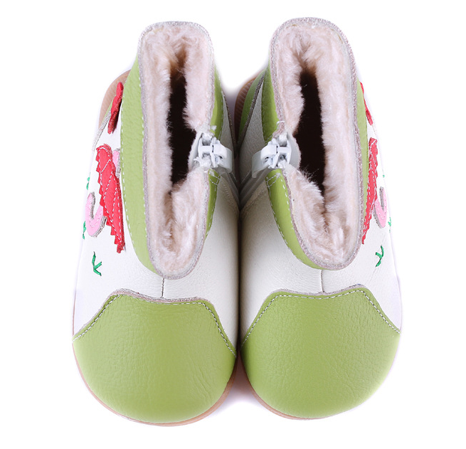 Raindrops in Lime - Toddler & Children Shoes - Ankle-Biters - 4