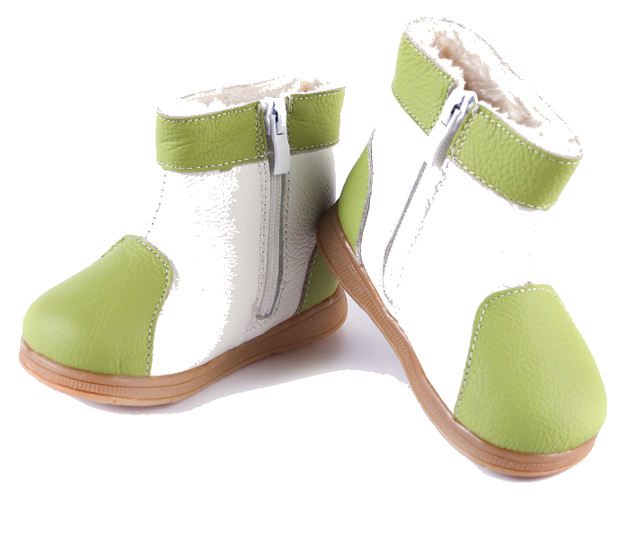 Raindrops in Lime - Toddler & Children Shoes - Ankle-Biters - 5