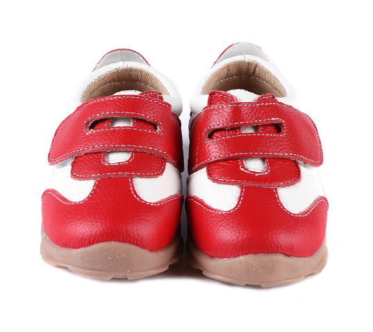 Leather Sprint in Red - Toddler & Children Shoes - Ankle-Biters - 7