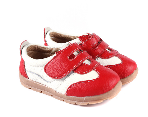 Leather Sprint in Red - Toddler & Children Shoes - Ankle-Biters - 6