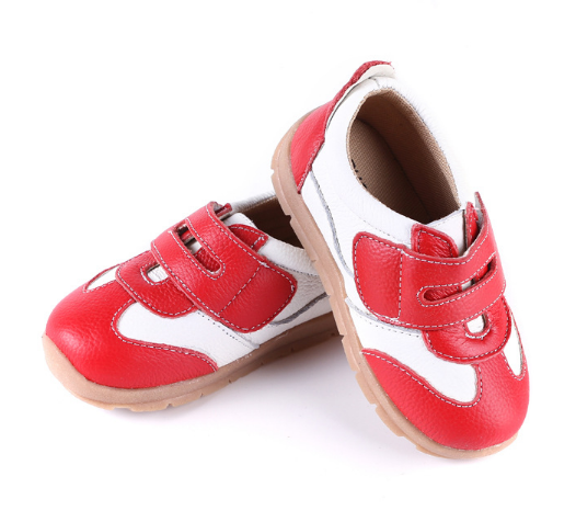 Leather Sprint in Red - Toddler & Children Shoes - Ankle-Biters - 5