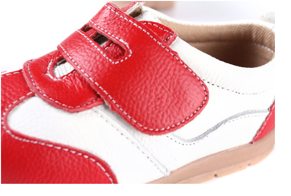 Leather Sprint in Red - Toddler & Children Shoes - Ankle-Biters - 4