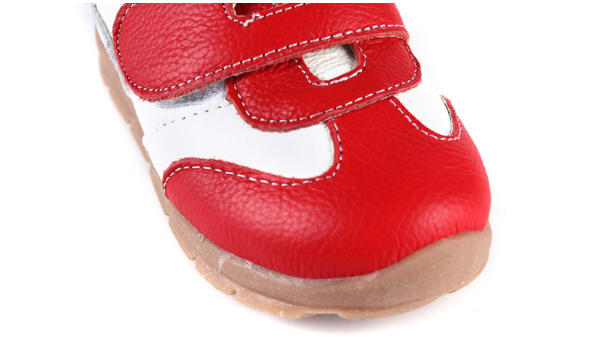 Leather Sprint in Red - Toddler & Children Shoes - Ankle-Biters - 2
