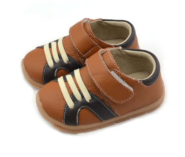 Casual Leathers in Tan - Toddler & Children Shoes - Ankle-Biters - 5