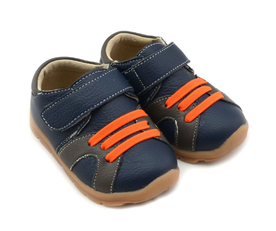 Casual Leathers in Navy Blue - Toddler & Children Shoes - Ankle-Biters - 5