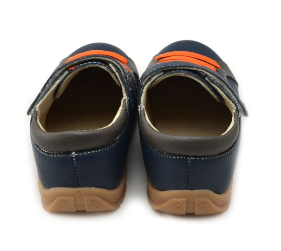 Casual Leathers in Navy Blue - Toddler & Children Shoes - Ankle-Biters - 4
