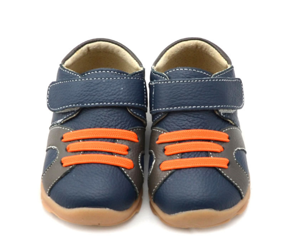 Casual Leathers in Navy Blue - Toddler & Children Shoes - Ankle-Biters - 3