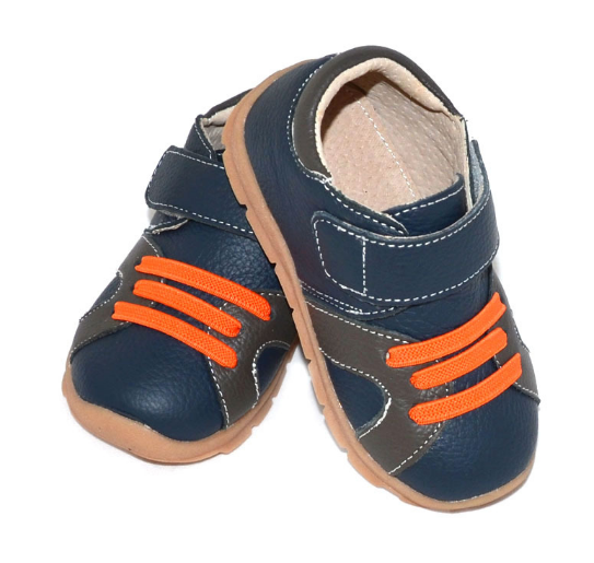 Casual Leathers in Navy Blue - Toddler & Children Shoes - Ankle-Biters - 2