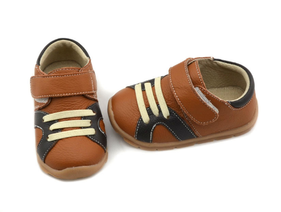 Casual Leathers in Tan - Toddler & Children Shoes - Ankle-Biters - 3