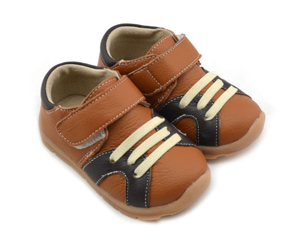 Casual Leathers in Tan - Toddler & Children Shoes - Ankle-Biters - 2