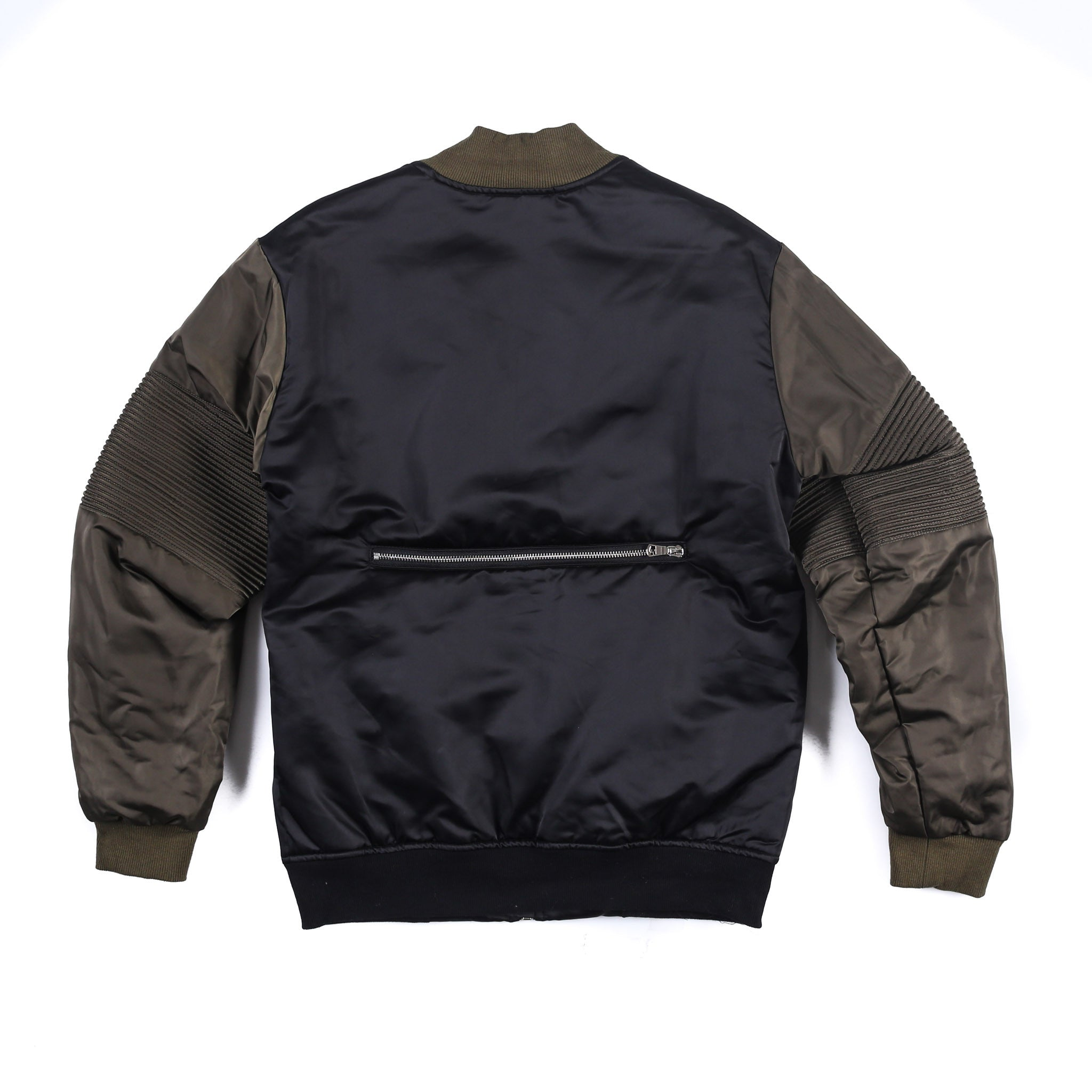"""Astor"" Moto Jacket (Black/Olive)"