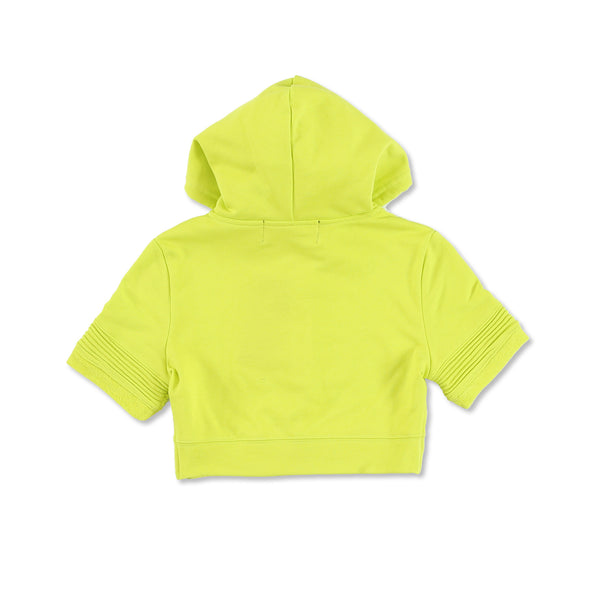 """Elise"" Crop Hoody (Lime)"