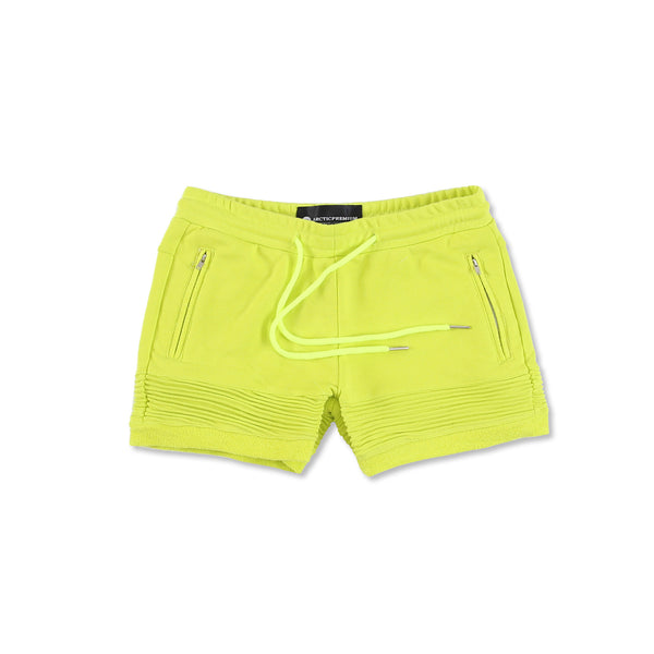 """Elise"" Crop Shorts (Lime)"