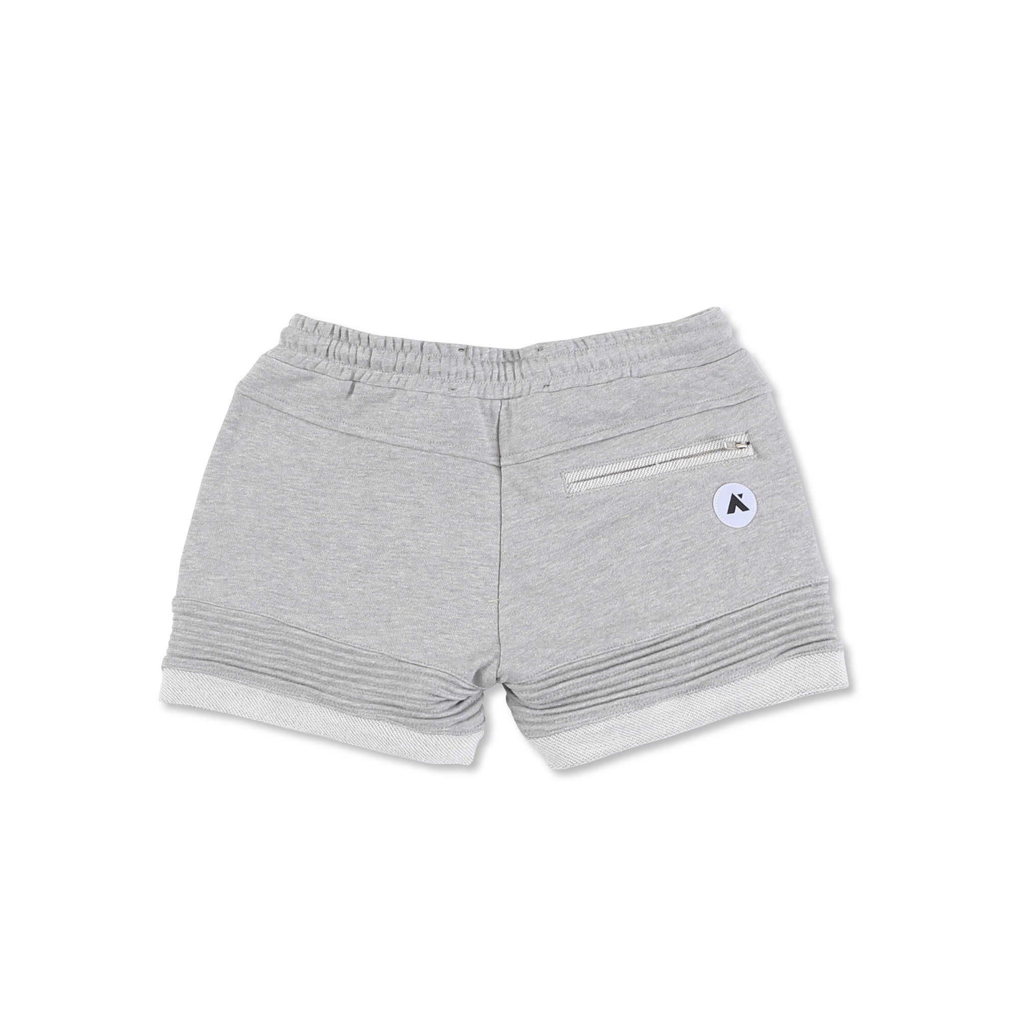 """Elise"" Crop Shorts (Heather Grey)"