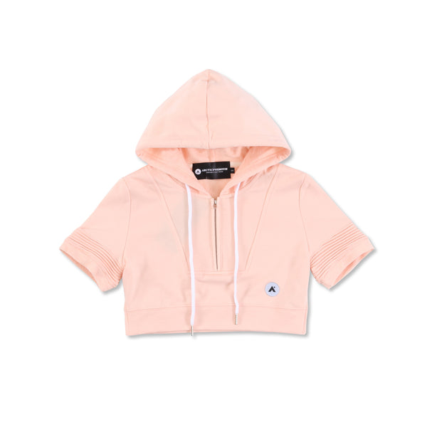 """Elise"" Crop Hoody (Peach)"