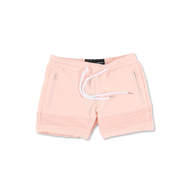 """Elise"" Crop Shorts (Peach)"