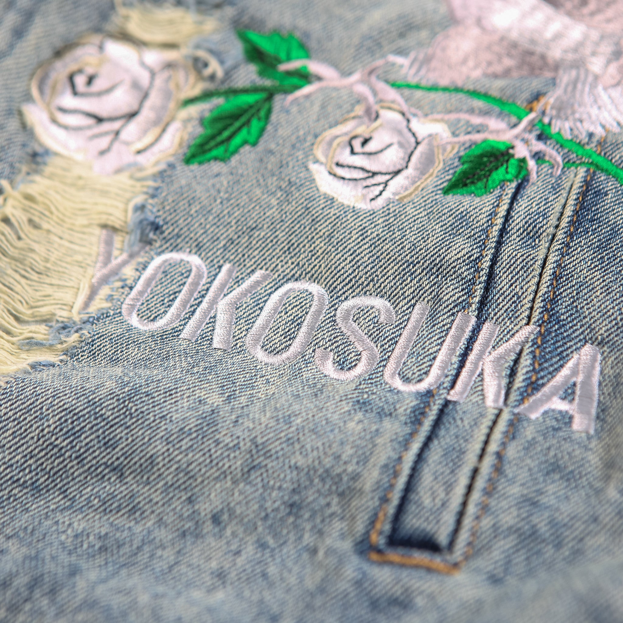 """REIGN"" Blue Washed Denim Jacket"