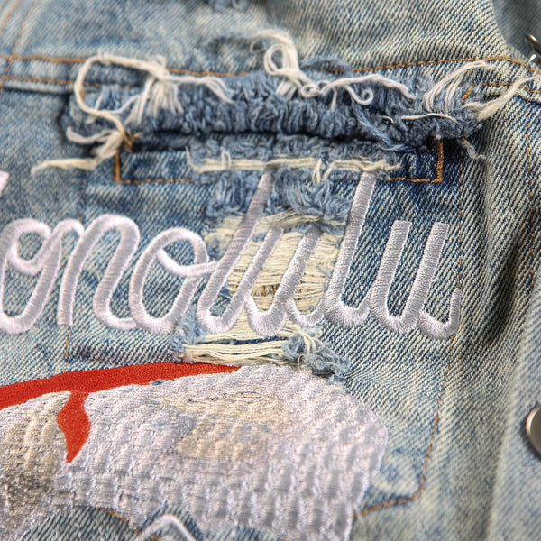 """REIGN""BLUEWASHEDDENIMJACKET"