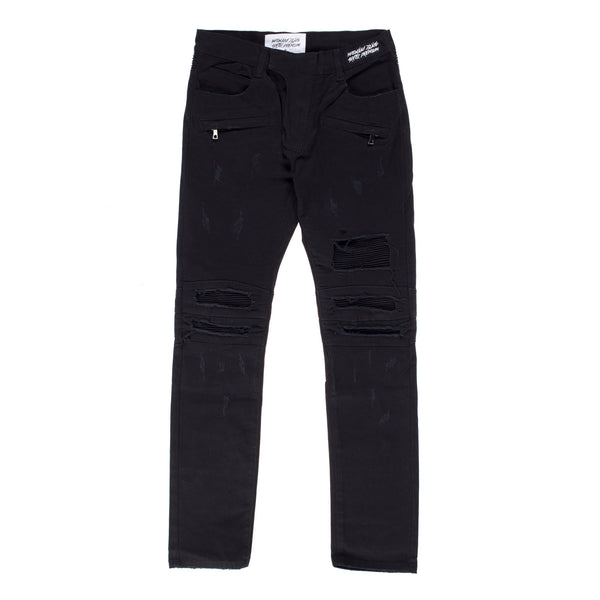 """Reconstructed Moto"" Denim (Black)"