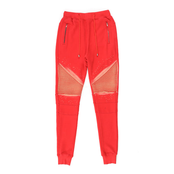 """Xander"" Bleached Jogger (Red)"