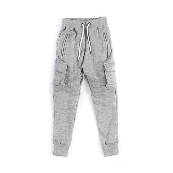 "Kid's ""Baldwyn"" Moto Jogger (Heather Grey)"