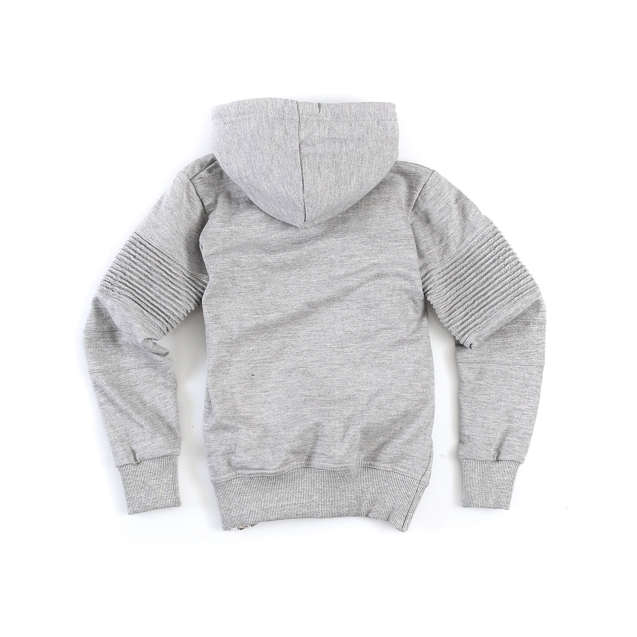 "Kid's ""Baldwyn"" Moto Hoody (Heather Grey)"