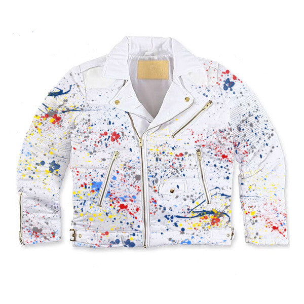 Wraith Jacket (Triple White/ Paint Splatter)