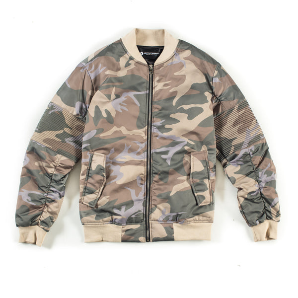 Astor Moto Jacket (Tan Camo)