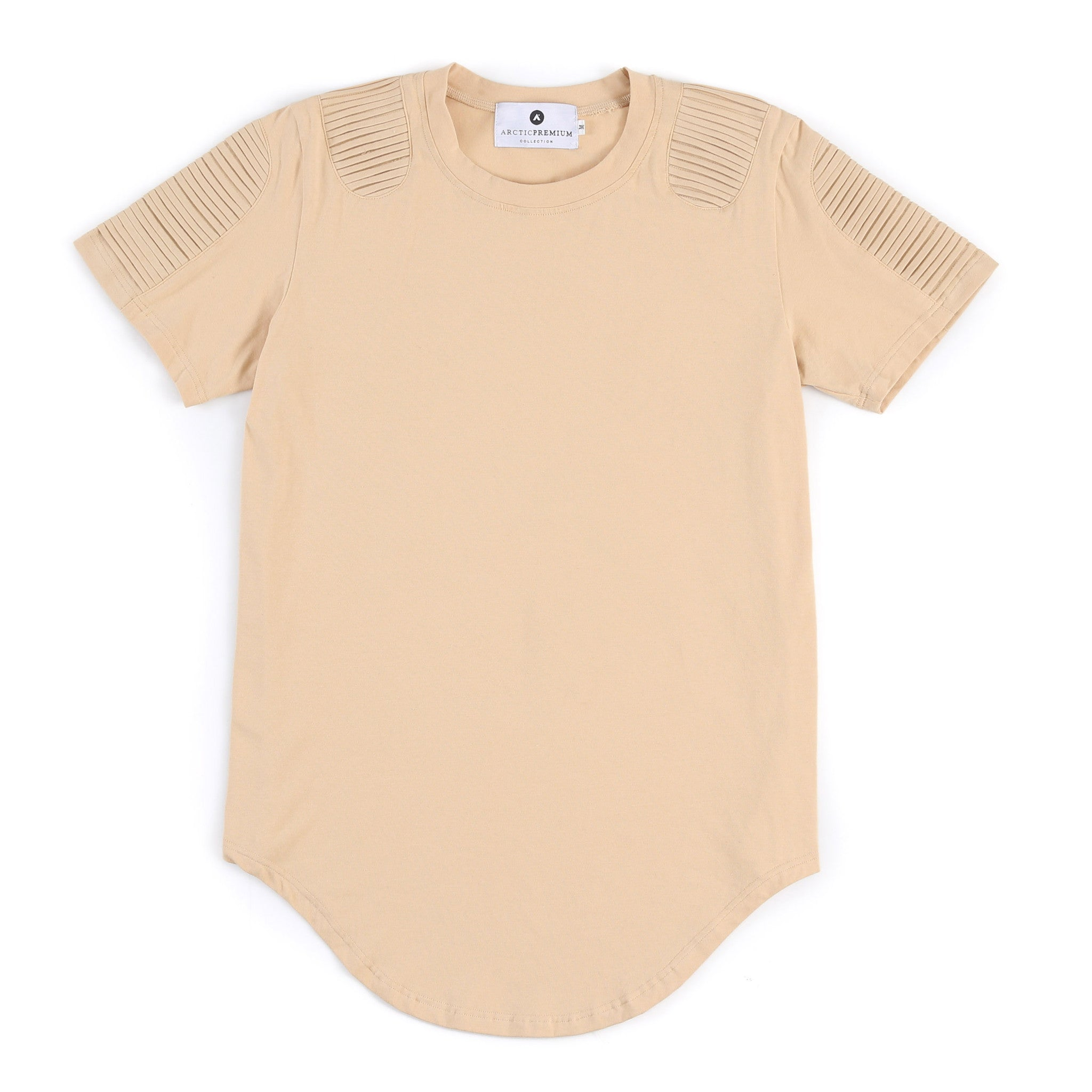 Frayed Classic Elongated Moto Shirt (Oxford Tan)