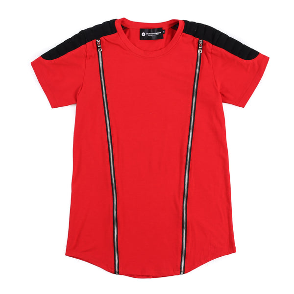 Viper Zippered Moto Shirt (Red/Black)