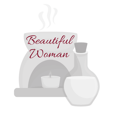 Beautiful Woman Aromatherapy Burning Oil