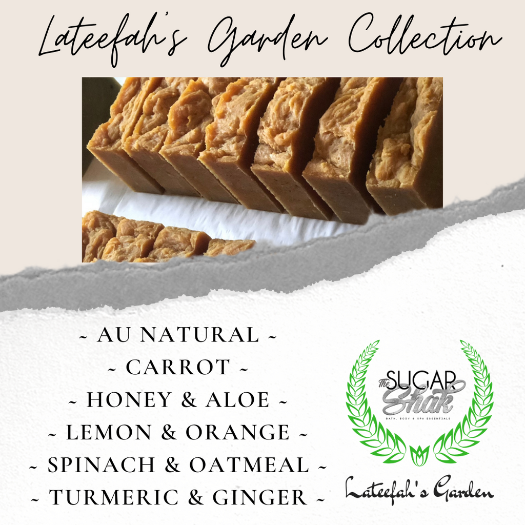 Lateefah's Garden Face & Body Cleansing Bar Soap Bundle (Set of 6)