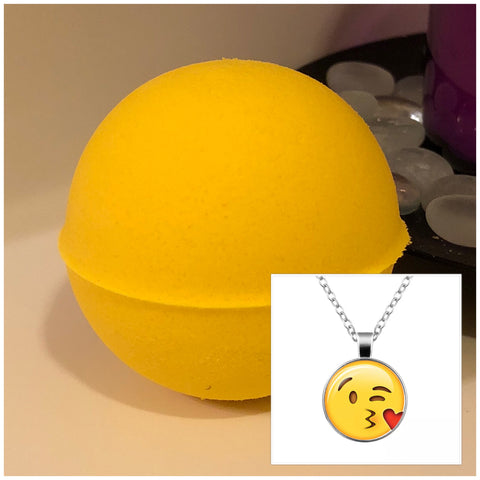 Emoji Necklace Surprise Bath Bomb