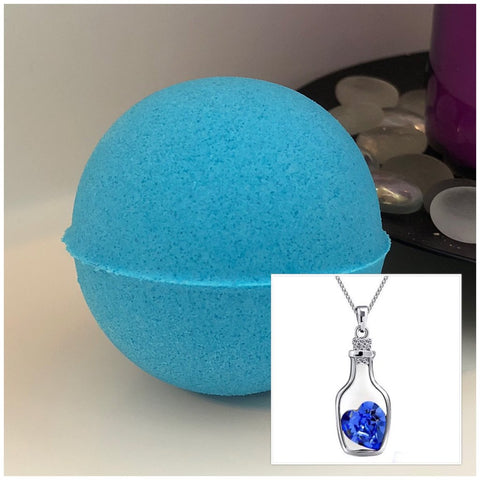 Bottle of Love Necklace Bath Bomb (Faith)