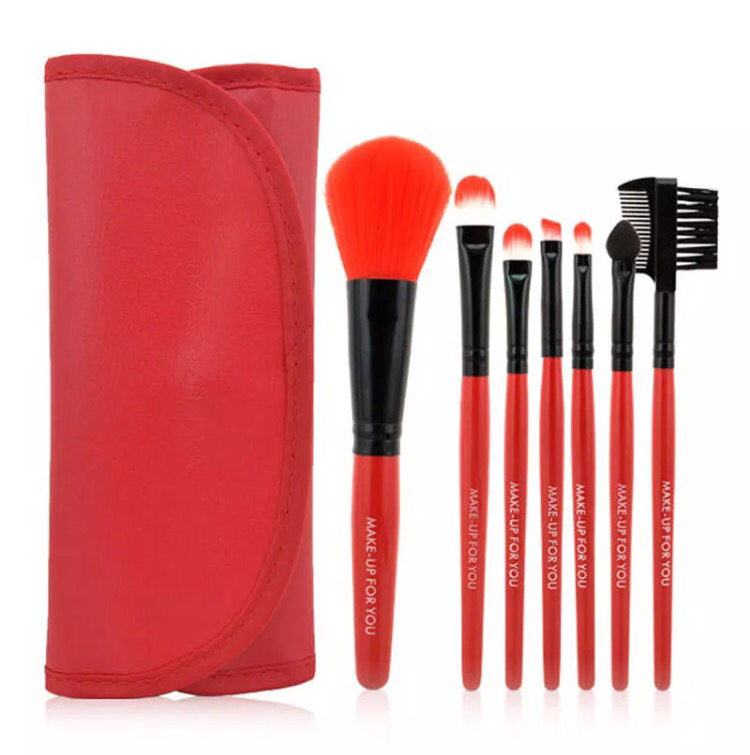 Cosmetic Brush Set (Red)