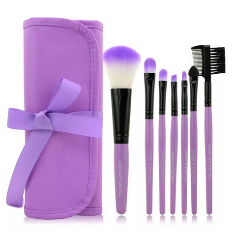 Cosmetic Brush Set (Purple)