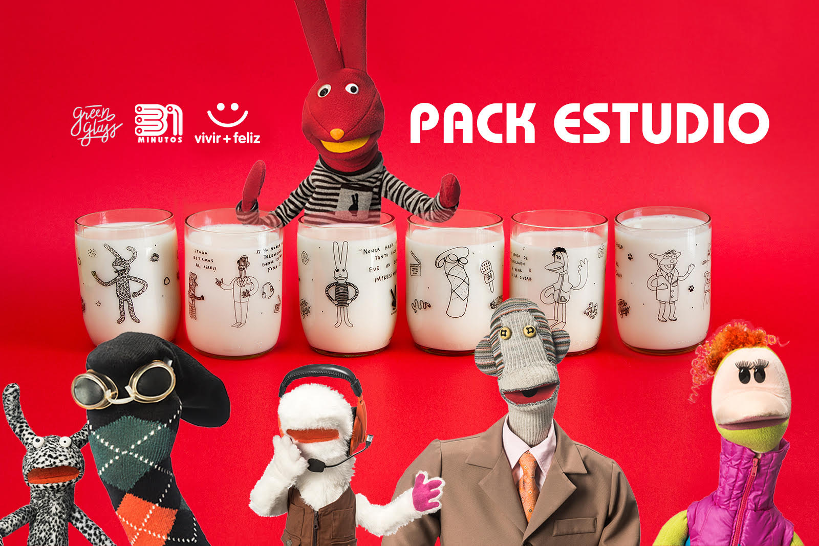 Pack Estudio 31 Minutos Juegos de 6 Vasitos 200 Ml