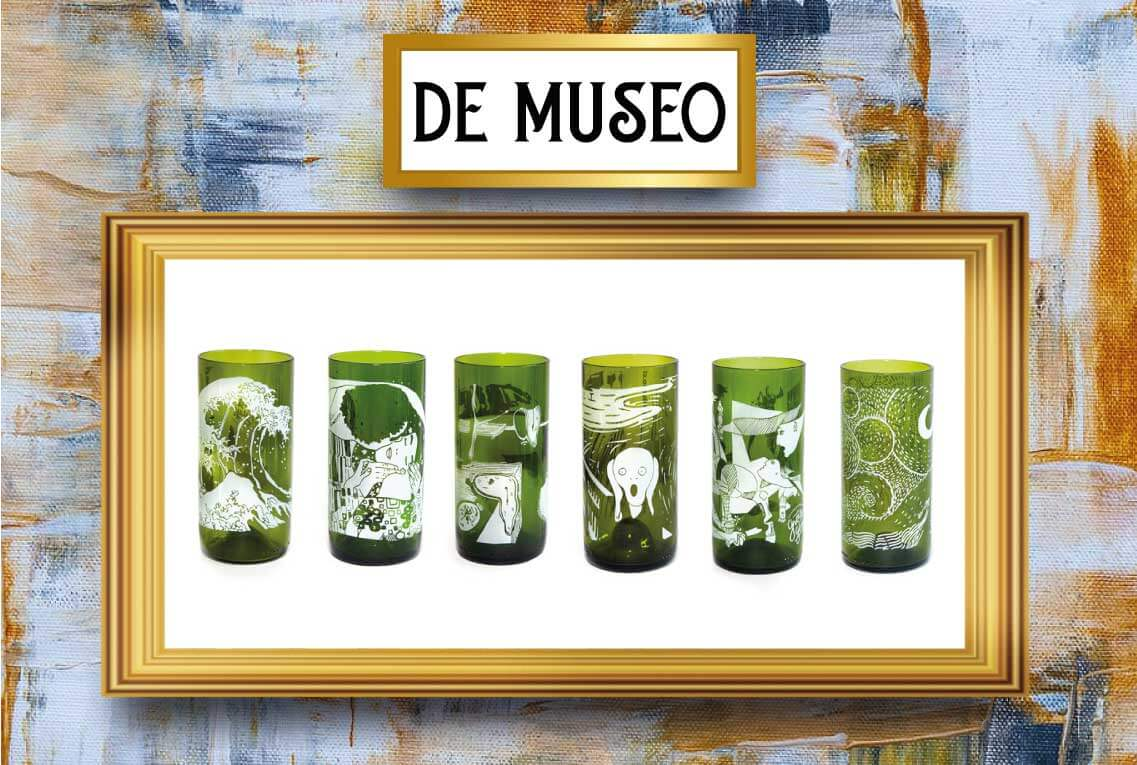 Vasos De Museo 6 Pack 500ml
