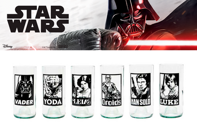 Vasos Star Wars - A New Hope - Juego de 6 Vasos