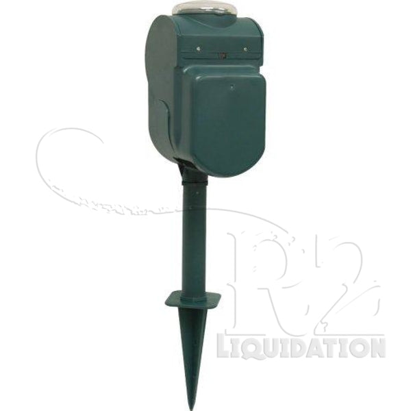 1 - 6-OULET GROUNDED YARD, 6-Outlet Grounded Yard Stake with Timer, ¥ Perfect solution for automating holiday & decorative lighting around home--not intended for permanent installation ¥ 24-hour programmable timer ¥ 6 grounded & timed outlets ¥ Weathe
